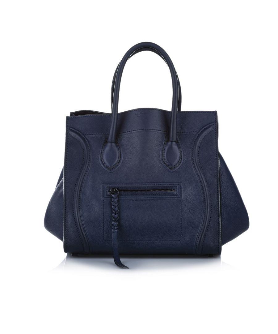 Image for Vintage Celine Phantom Leather Handbag Black