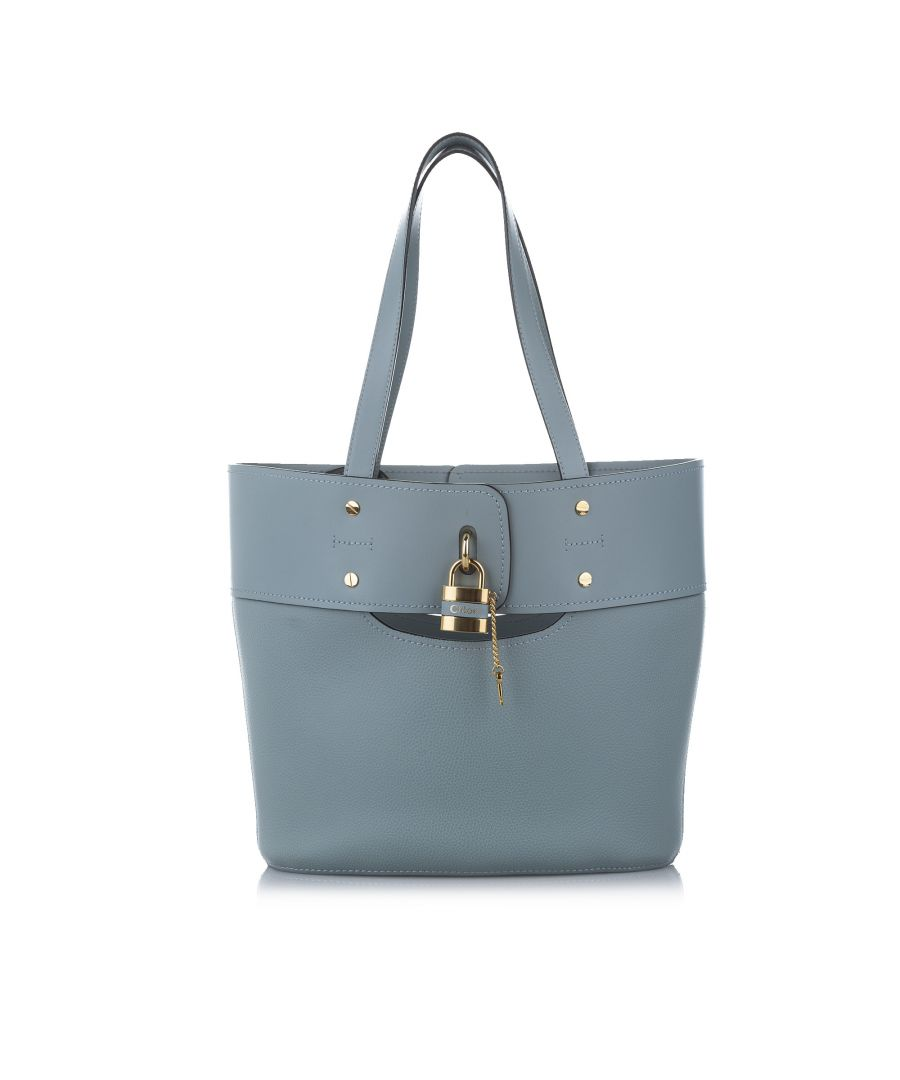 Image for Vintage Chloe Aby Leather Bucket Bag Blue