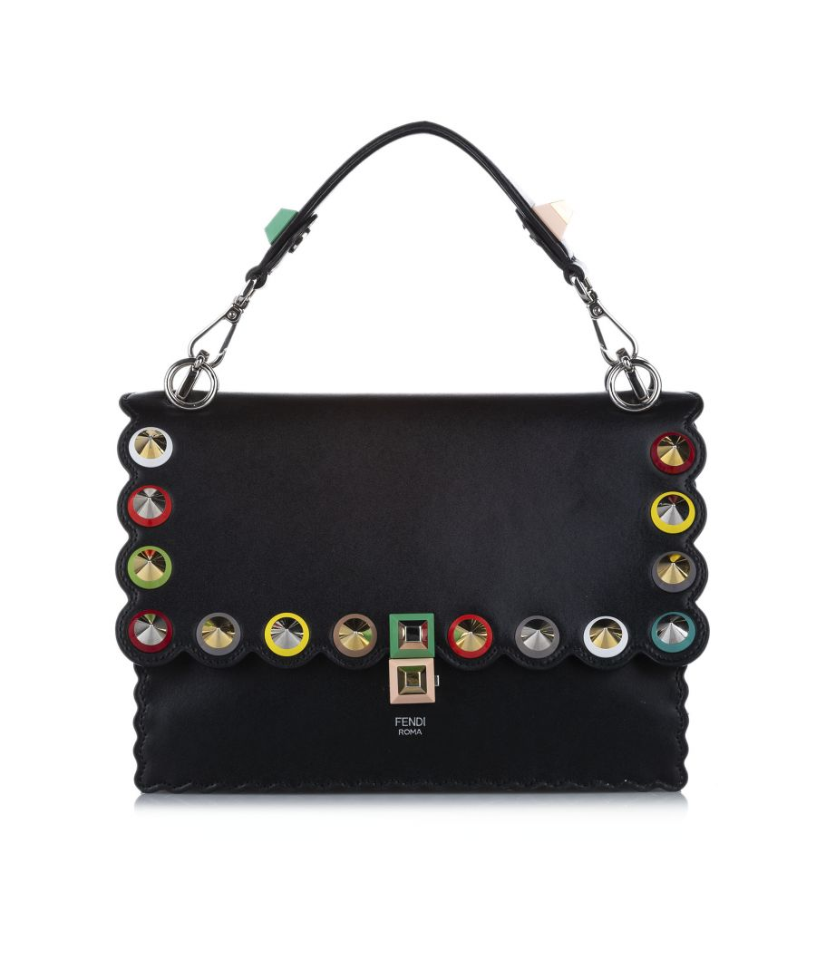Image for Vintage Fendi Kan I Leather Satchel Black