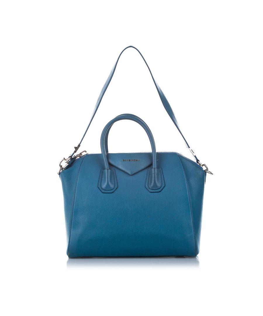 Image for Vintage Givenchy Medium Antigona Leather Satchel Blue