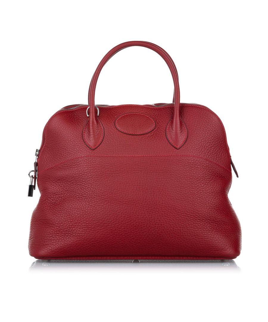 Image for Vintage Hermes Togo Bolide 35 Red
