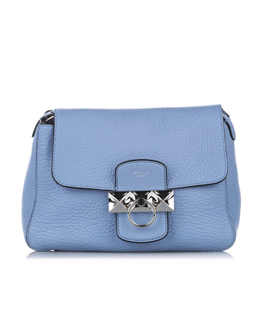 Image for Vintage Mulberry Mini Keeley Leather Shoulder Bag Blue