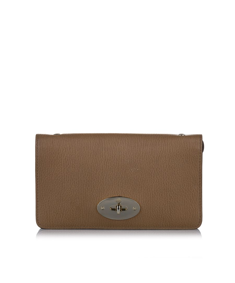 Image for Vintage Mulberry Leather Wallet on Chain Brown
