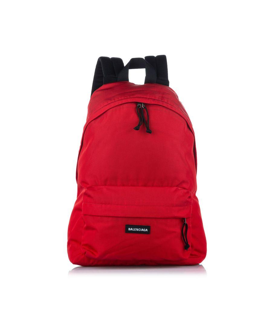 Image for Vintage Balenciaga Explorer Nylon Backpack Red