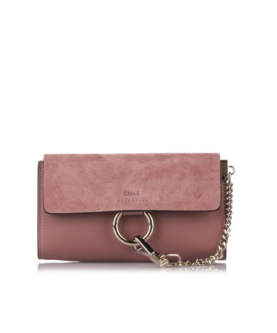Image for Vintage Chloe Faye Leather Crossbody Bag Pink