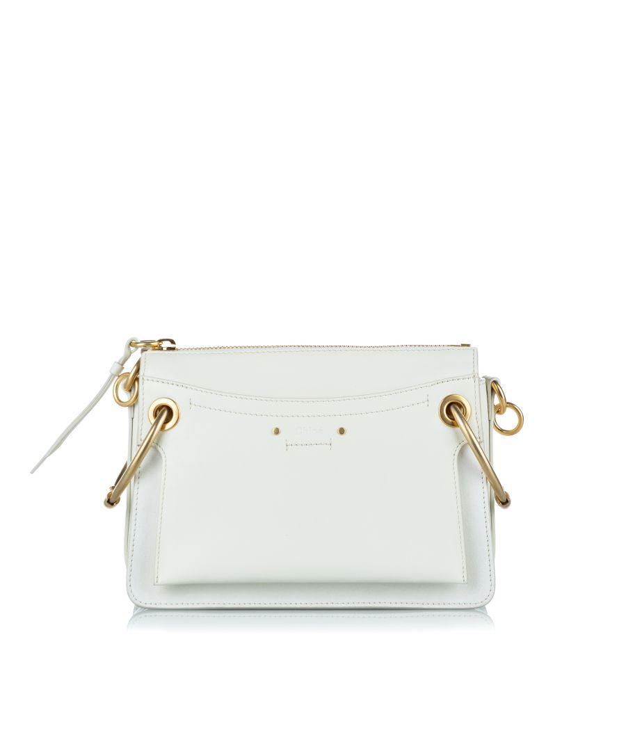 Image for Vintage Chloe Roy Leather Shoulder Bag White
