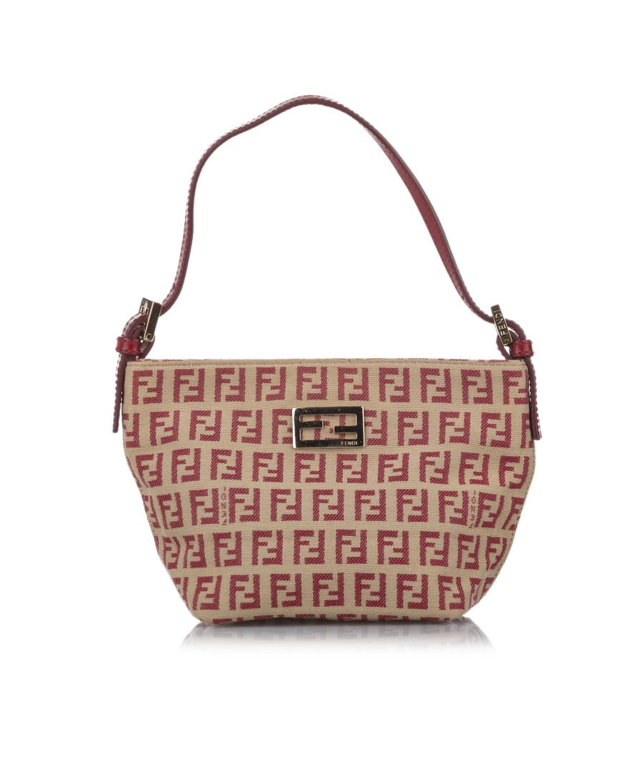 Image for Vintage Fendi Zucchino Canvas Baguette Brown