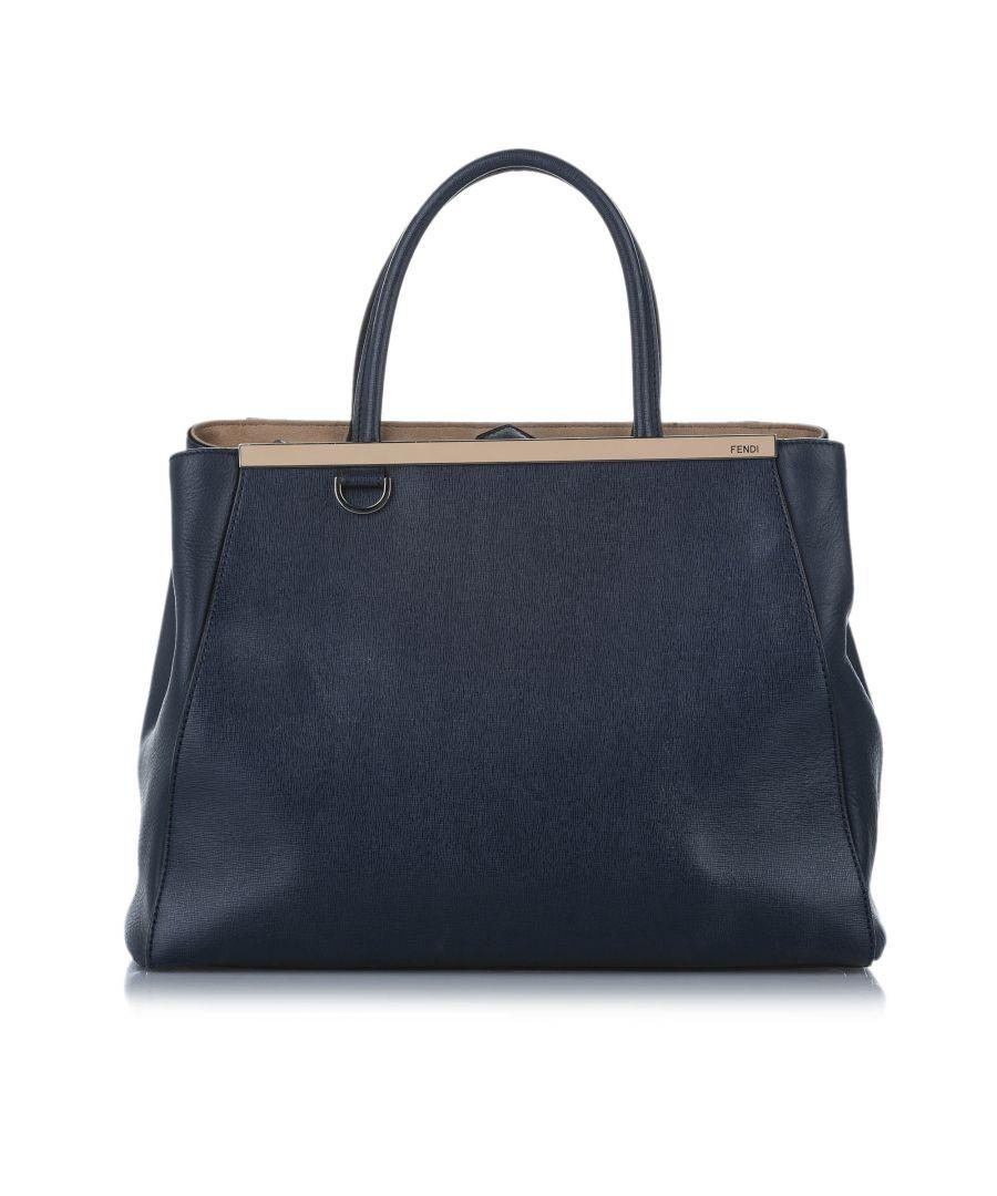 Image for Vintage Fendi 2Jours Leather Satchel Black