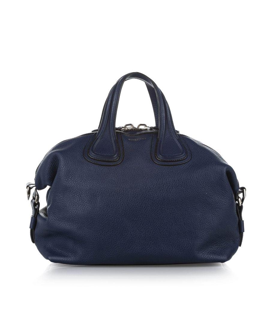 Image for Vintage Givenchy Nightingale Leather Satchel Blue
