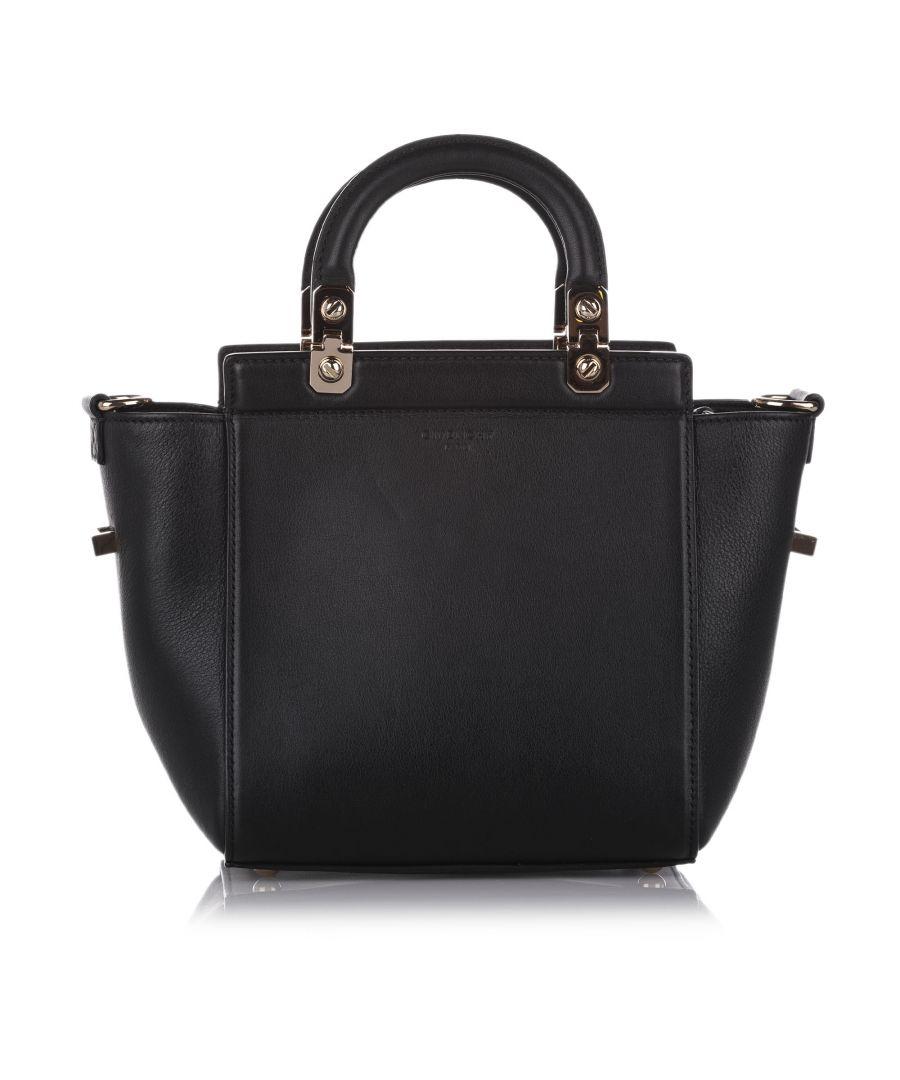 Image for Vintage Givenchy HDG Leather Satchel Black