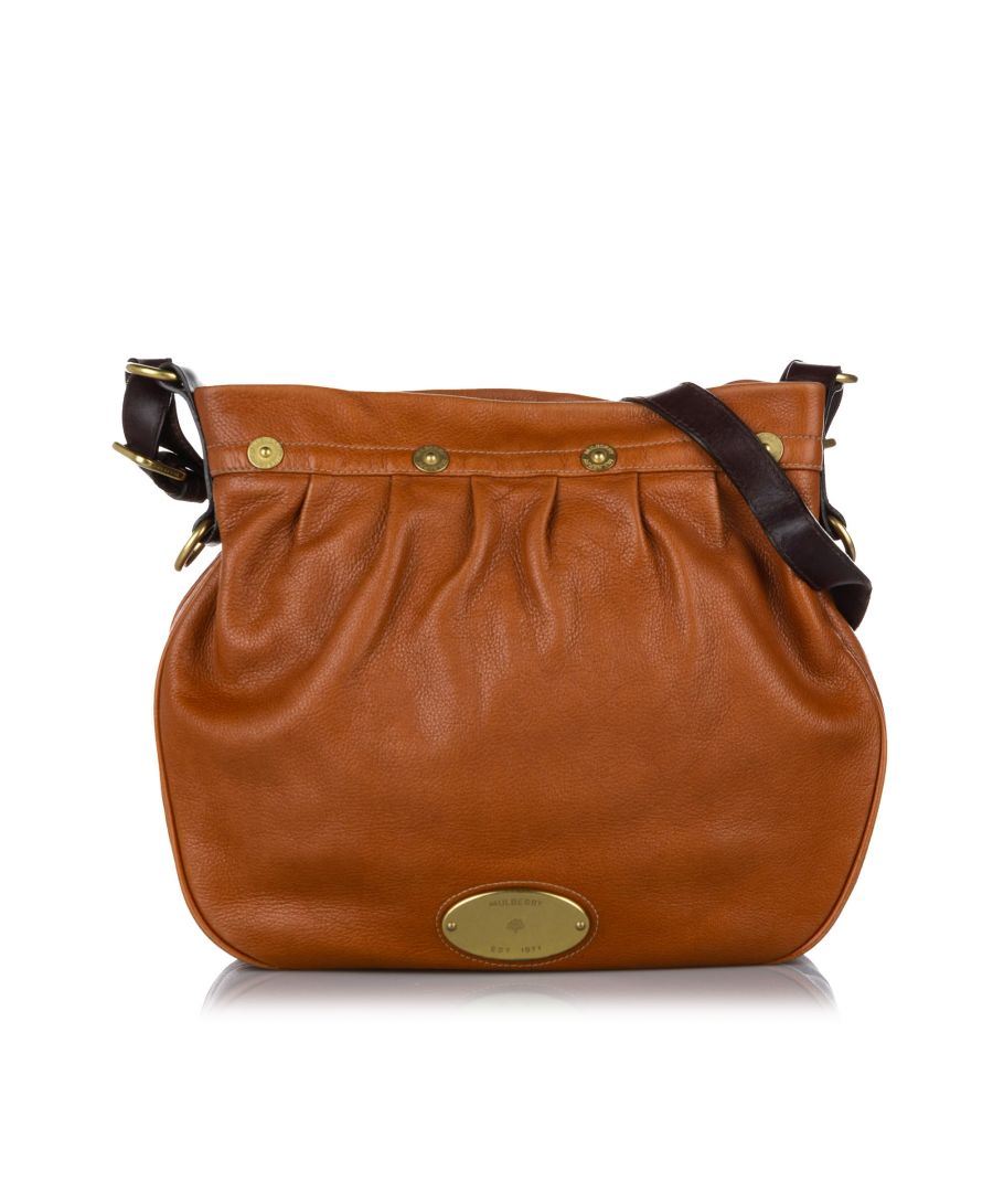 Image for Vintage Mulberry Mitzy Leather Crossbody Bag Brown