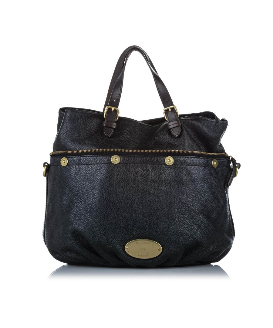 Image for Vintage Mulberry Mitzy Leather Satchel Black