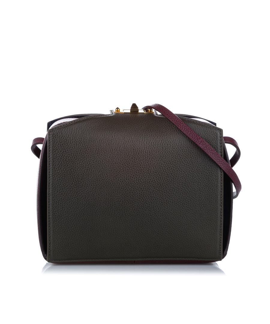 Image for Vintage Alexander McQueen Legend Box Leather Shoulder Bag Black