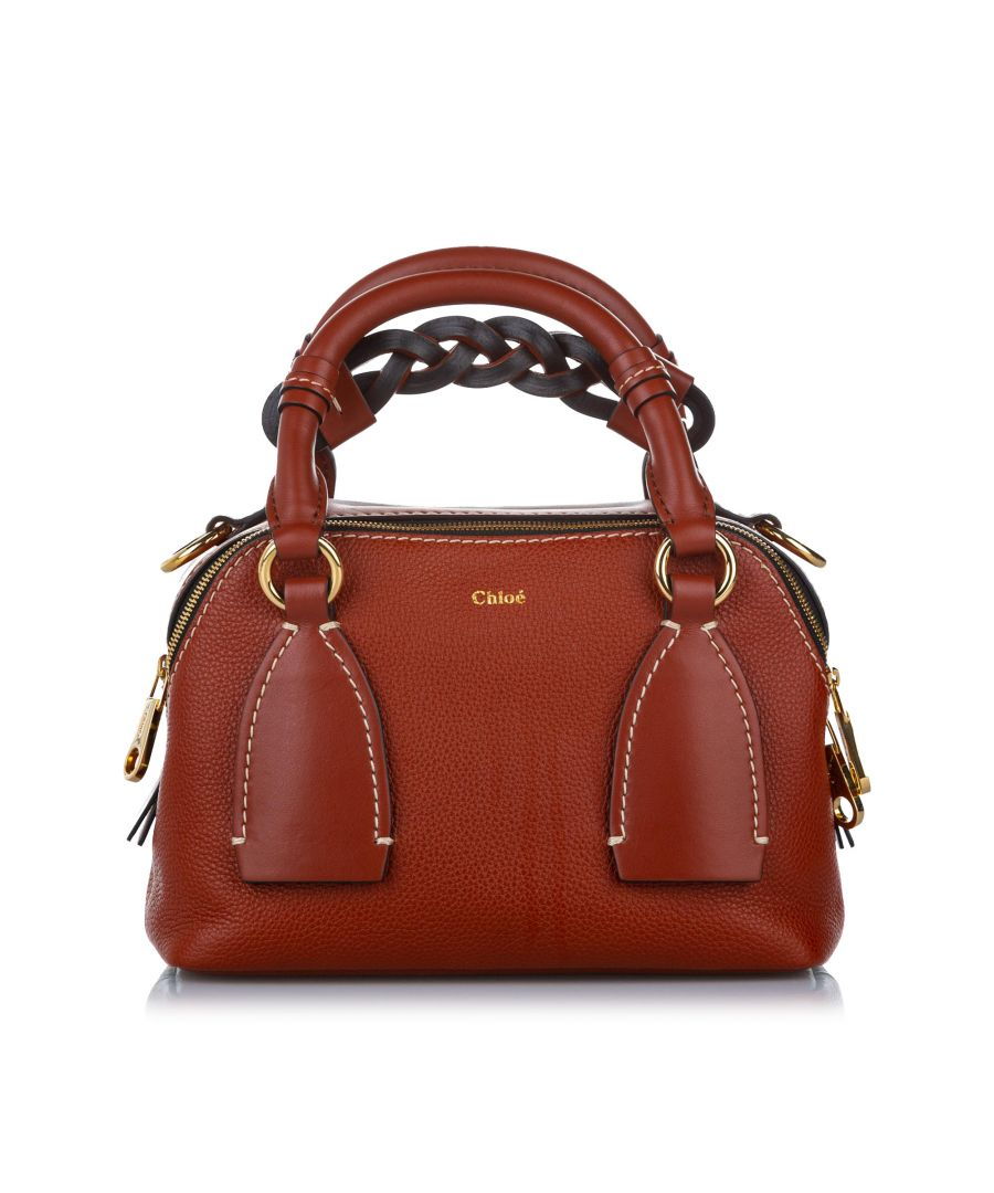 Image for Vintage Chloe Small Daria Leather Satchel Red
