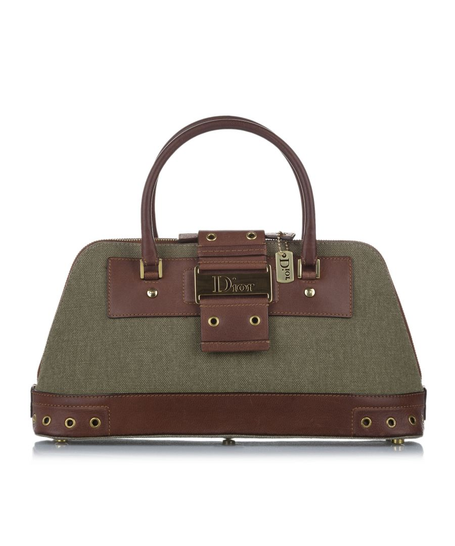 Image for Vintage Dior Street Chic Canvas Handbag Green