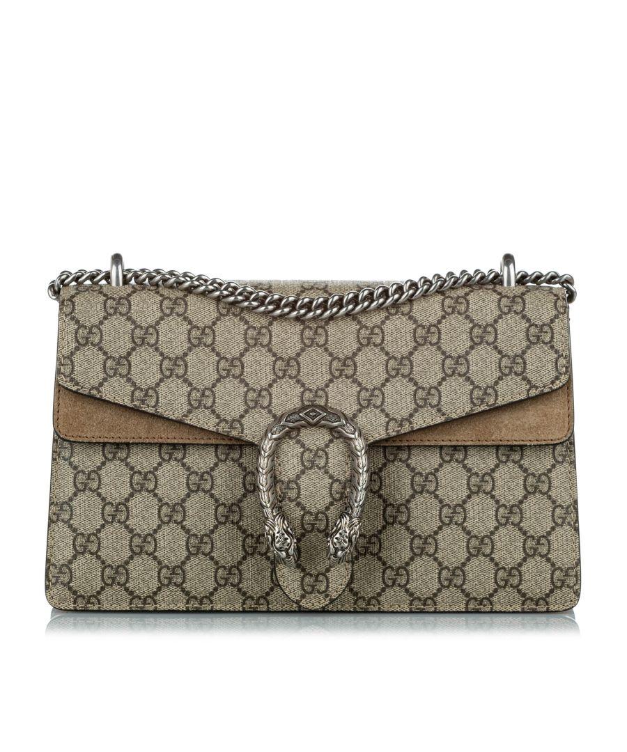 Image for Vintage Gucci GG Supreme Dionysus Shoulder Bag Brown