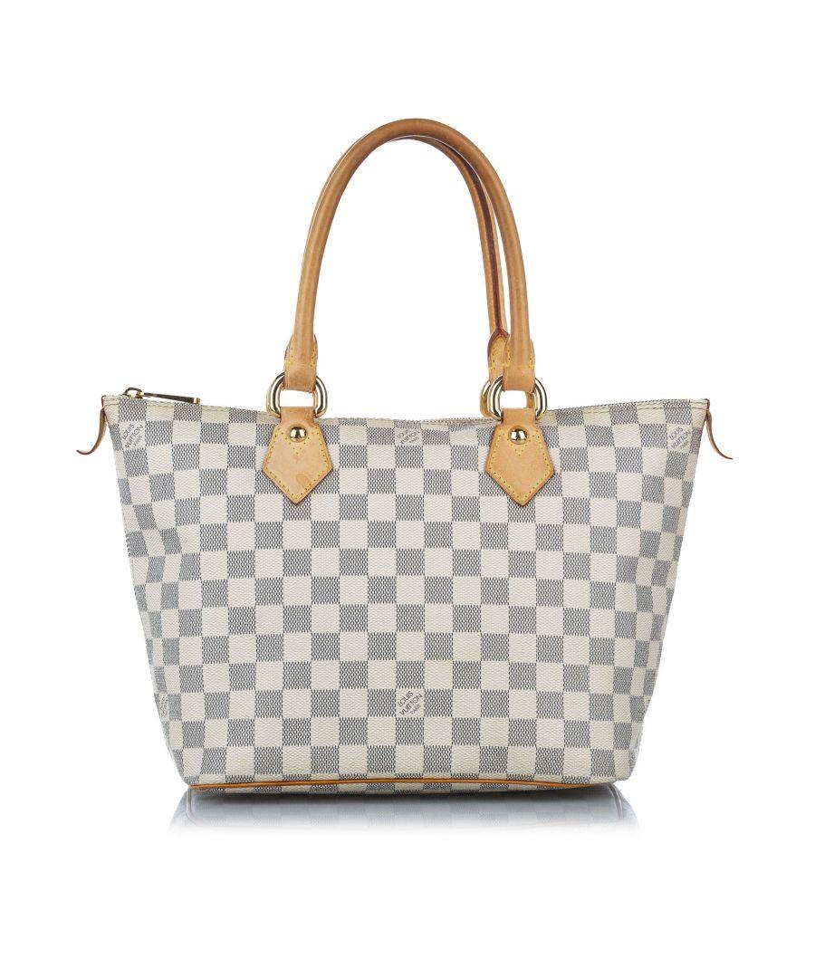 Image for Vintage Louis Vuitton Damier Azur Saleya PM White