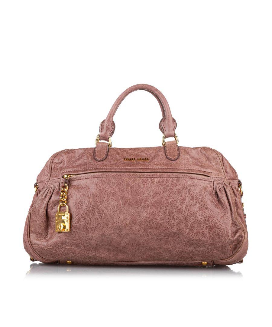 Image for Vintage Miu Miu Leather Satchel Brown