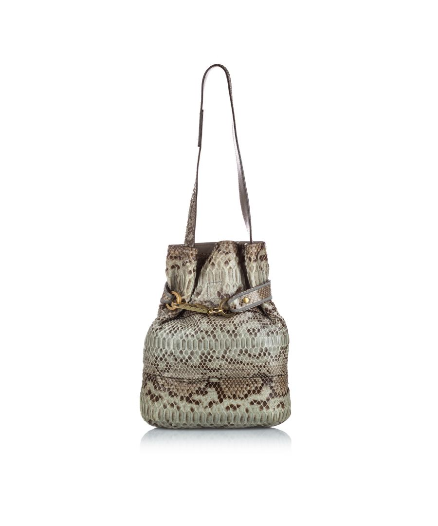 Image for Vintage Chloe Python Joan Bucket Brown