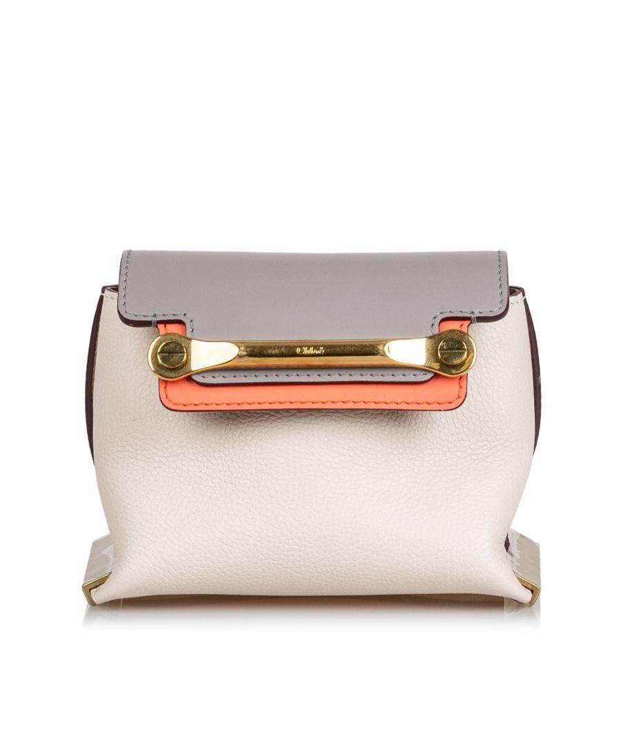 Image for Vintage Chloe Leather Mini Clare Crossbody White