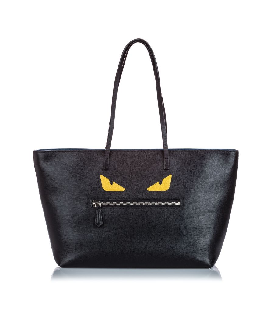 Image for Vintage Fendi Medium Roll Monster Tote Black