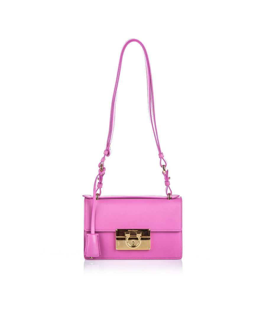 Image for Ferragamo Leather Aileen Shoulder Bag Pink