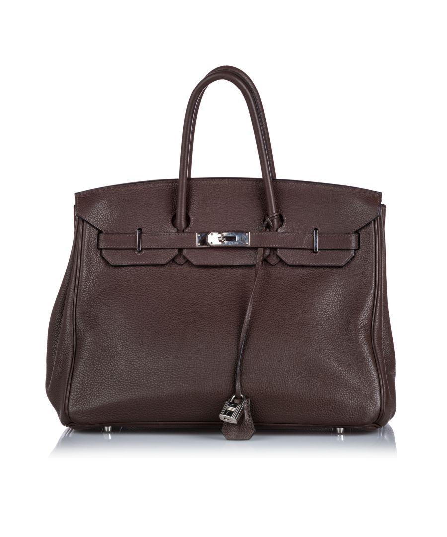 Image for Hermes Togo Birkin 35 Brown