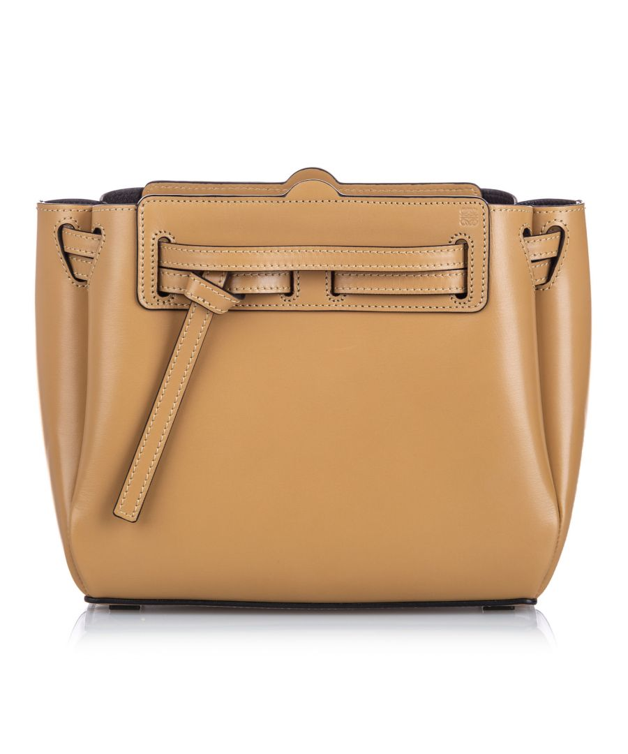 Image for Vintage Loewe Mini Leather Lazo Crossbody Brown