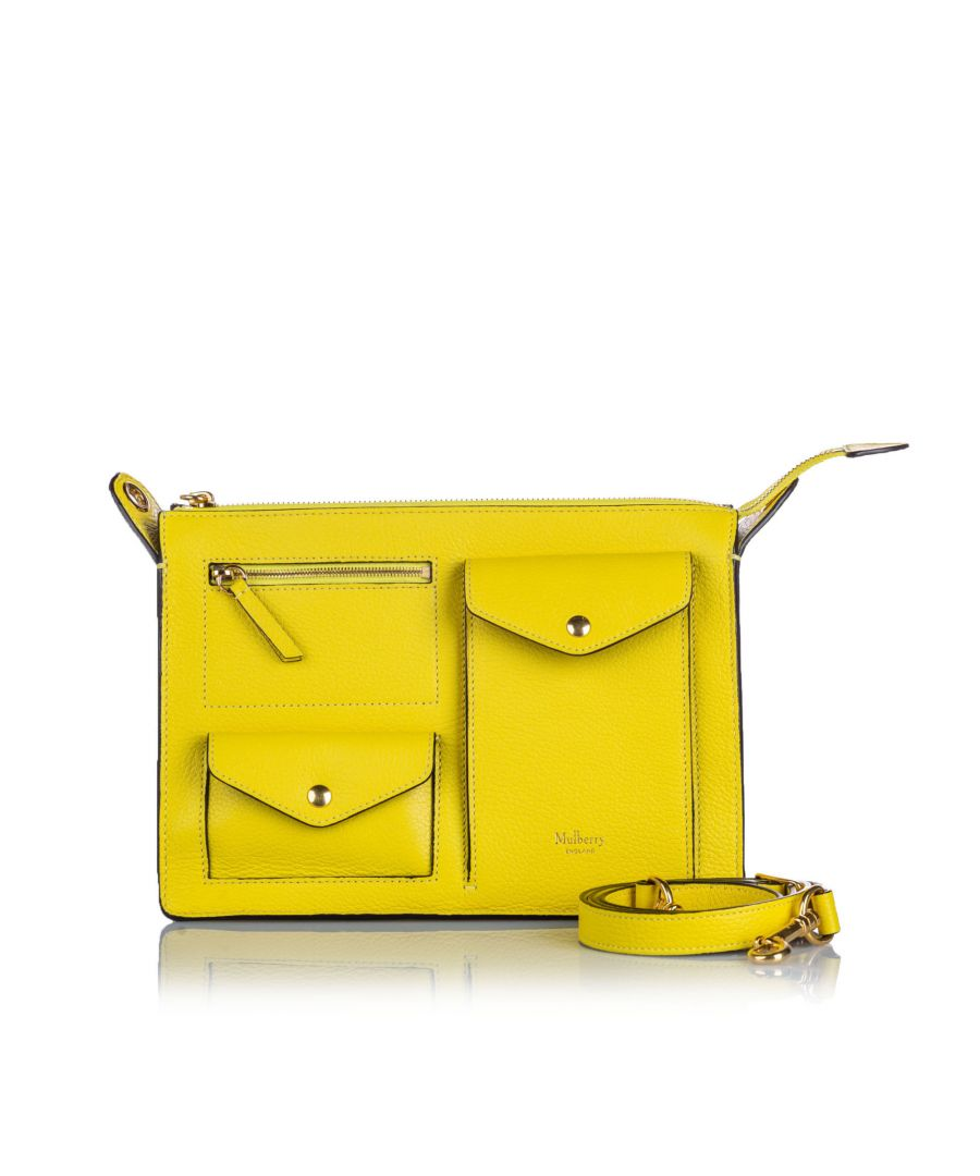 Image for Vintage Mulberry Leather Cherwell Satchel Yellow