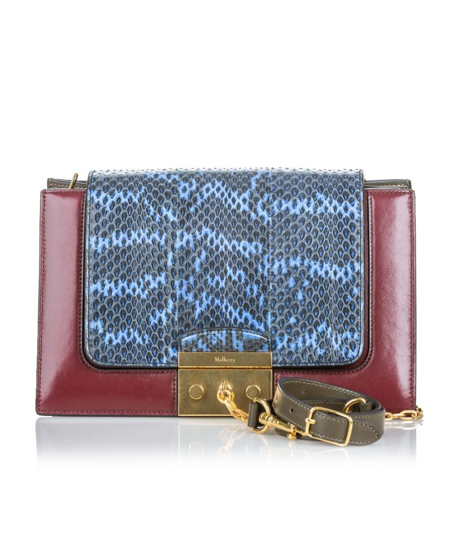 Image for Vintage Mulberry Python Pembroke Shoulder Bag Red