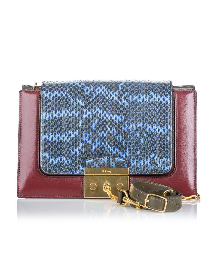 Image for Vintage Mulberry Python Pembroke Shoulder Bag Red