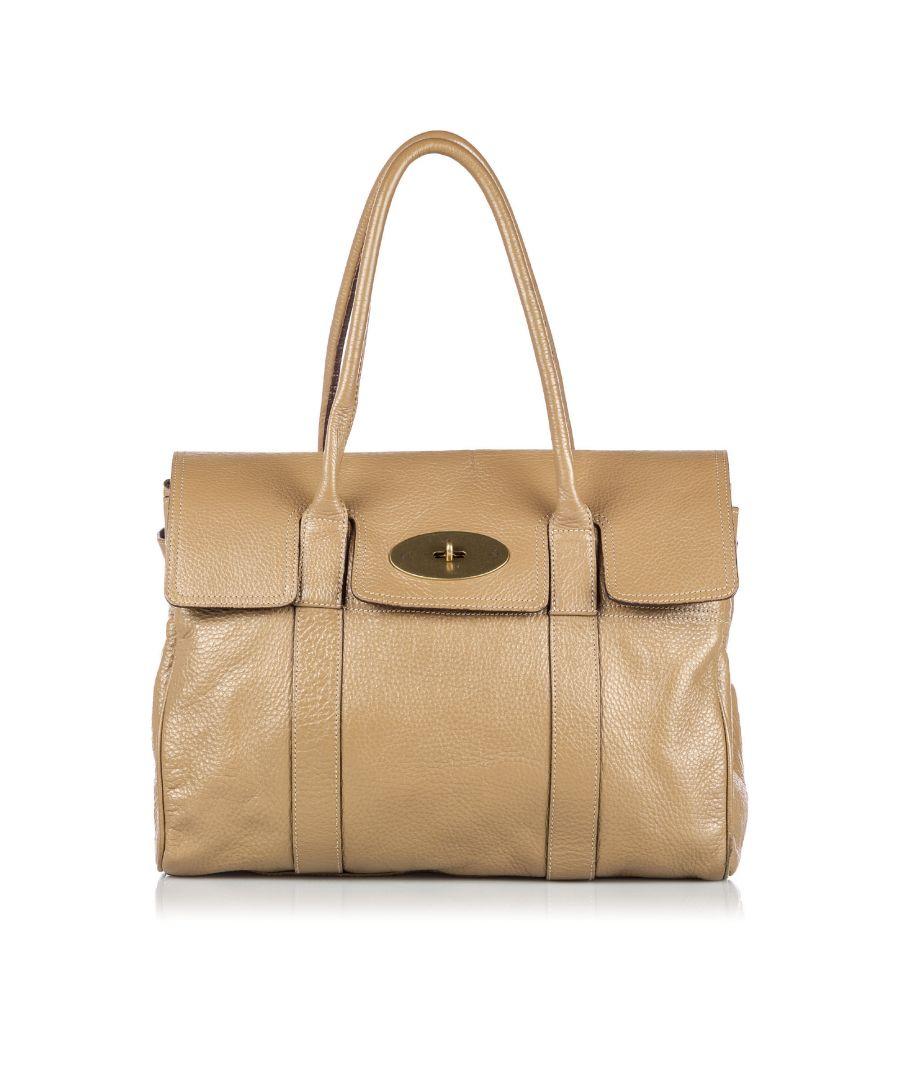 Image for Vintage Mulberry Leather Bayswater Handbag Brown