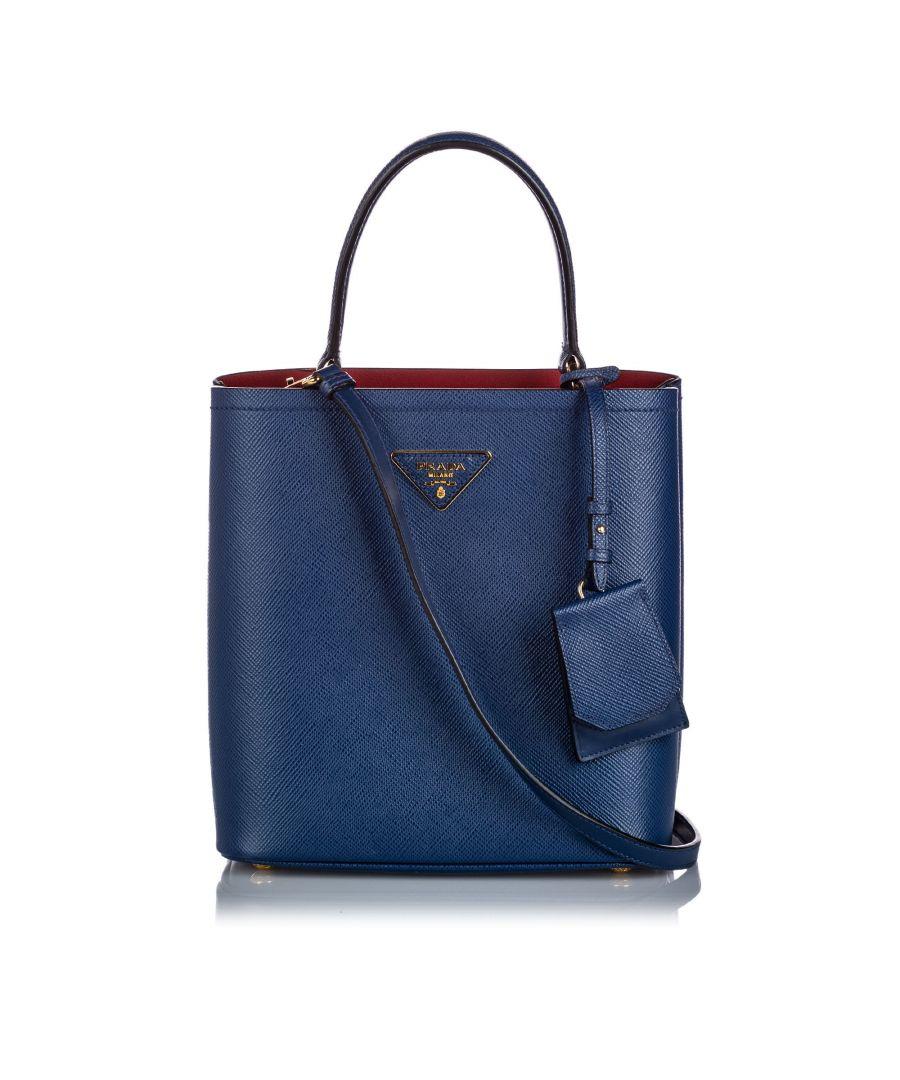 Image for Vintage Prada Saffiano Leather Satchel Blue