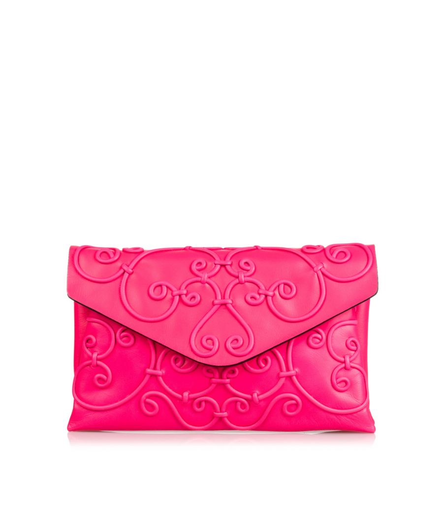 Image for Vintage Valentino Intricate Clutch Pink