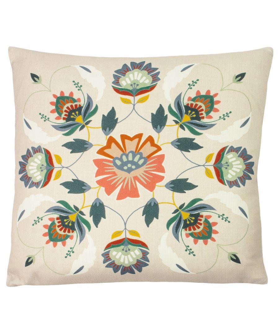 Image for Folk Floral Cushion
