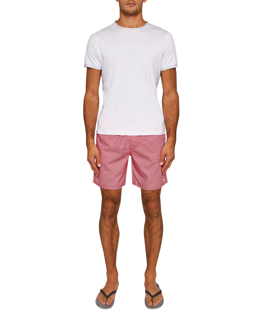 Image for Ted Baker Mobbsho Geo Print Swim Shorts, Pink