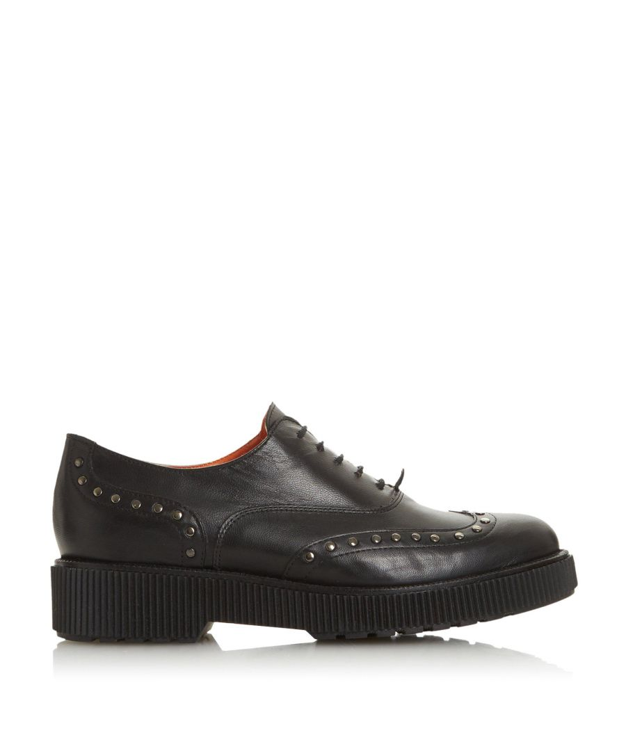 Image for Bertie Ladies FILETCH Studded Ribbed Sole Lace Up Brogue