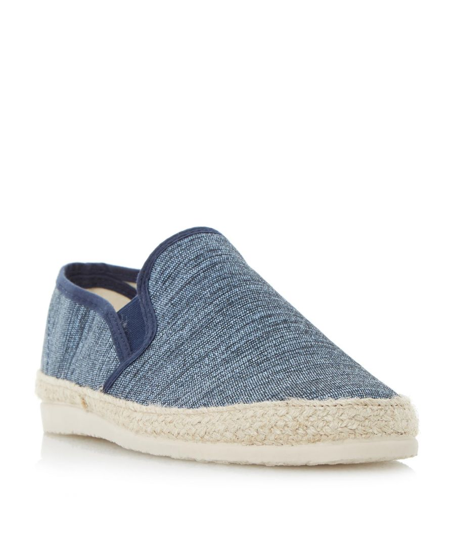Image for Dune Mens FINNICK Flecked Canvas Espadrille Shoe