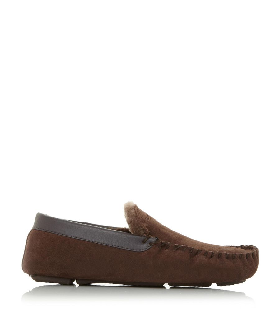 Image for Dune Mens FIREFLY Shearling Lined Loafer Slipper