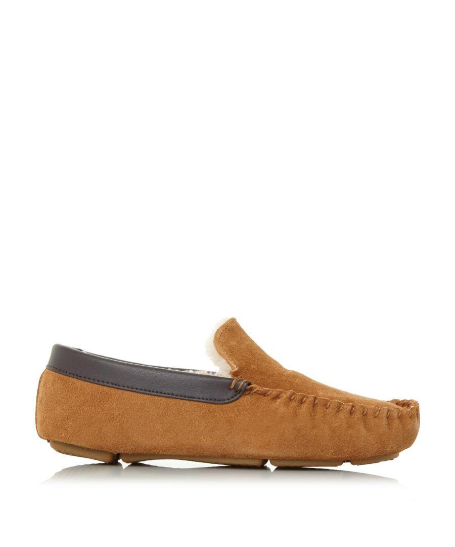 Image for Dune Mens FIREFLY Shearling Lined Loafer Slipper