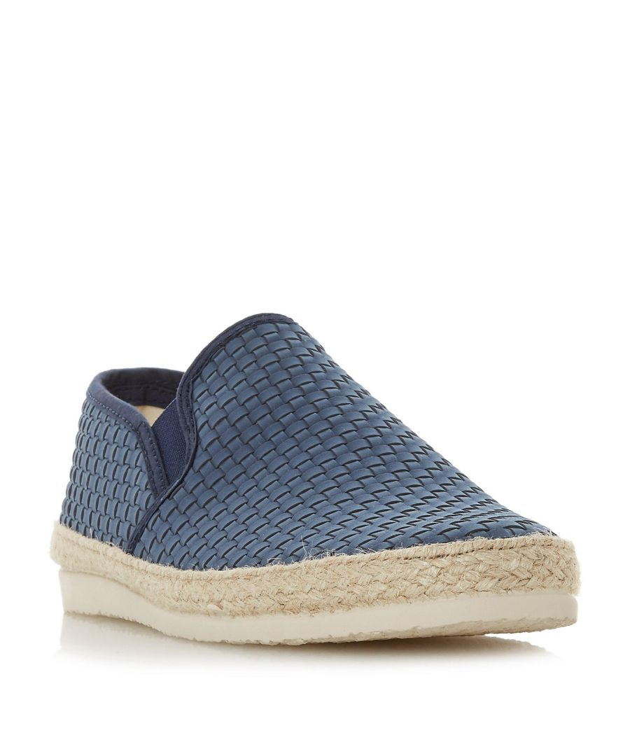Image for Dune Mens FIRMINO Woven Espadrilles Trim Slip-On Shoe