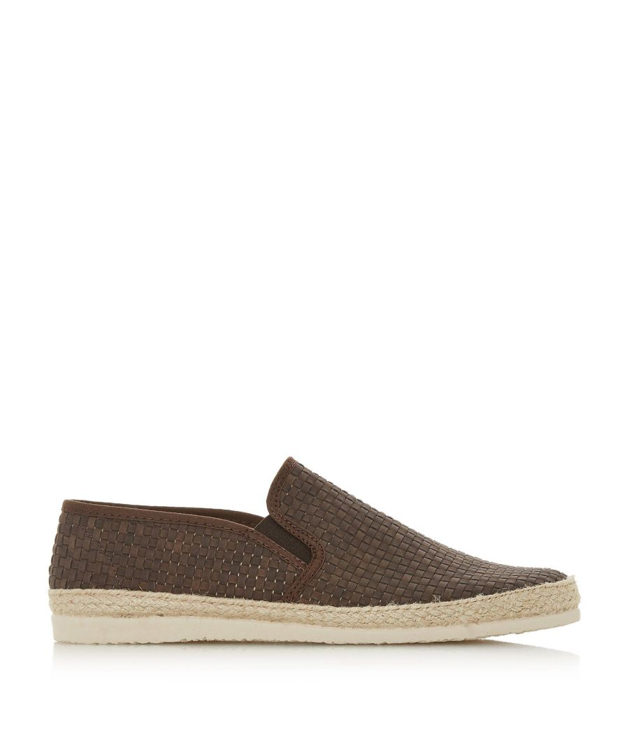 Image for Dune Mens FIRMINO Woven Espadrilles Trim Slip-On Shoes