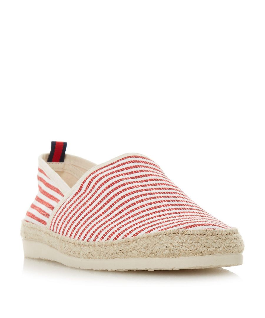 Image for Dune Mens FLAMINI Stripe Espadrille Shoe