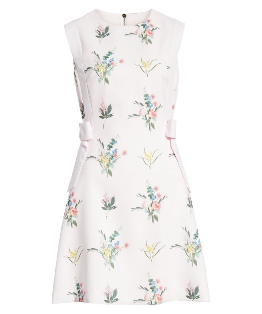 Image for Ted Baker Fleuray Flourish Aline Bow Dress, Nude Pink