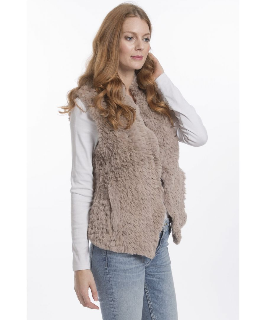 Image for Hand Knitted Faux Fur Gilet