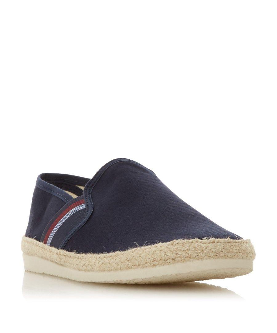 Image for Dune Mens FORLI Stripe Detail Espadrille Shoe