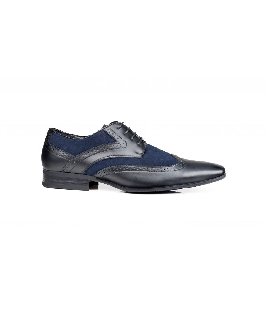 Image for Turin Derby Shoe Black/Blue
