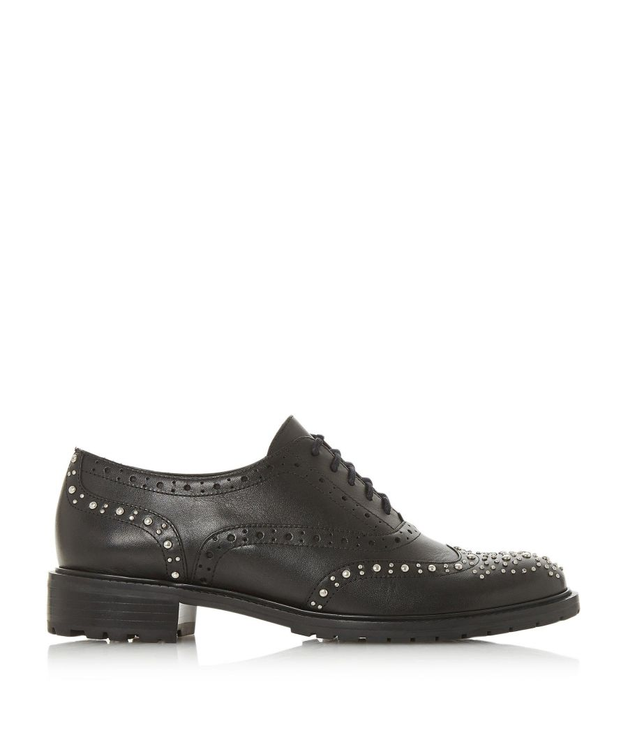 Image for Dune Ladies FRANCIS Studded Lace Up Brogue