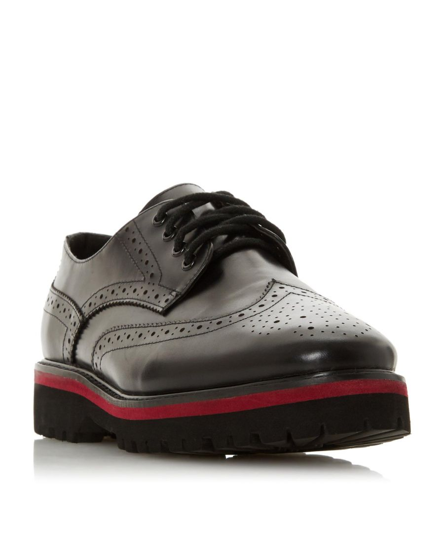 Image for Dune Ladies FREDERICA Lace Up Contrast Sole Brogue