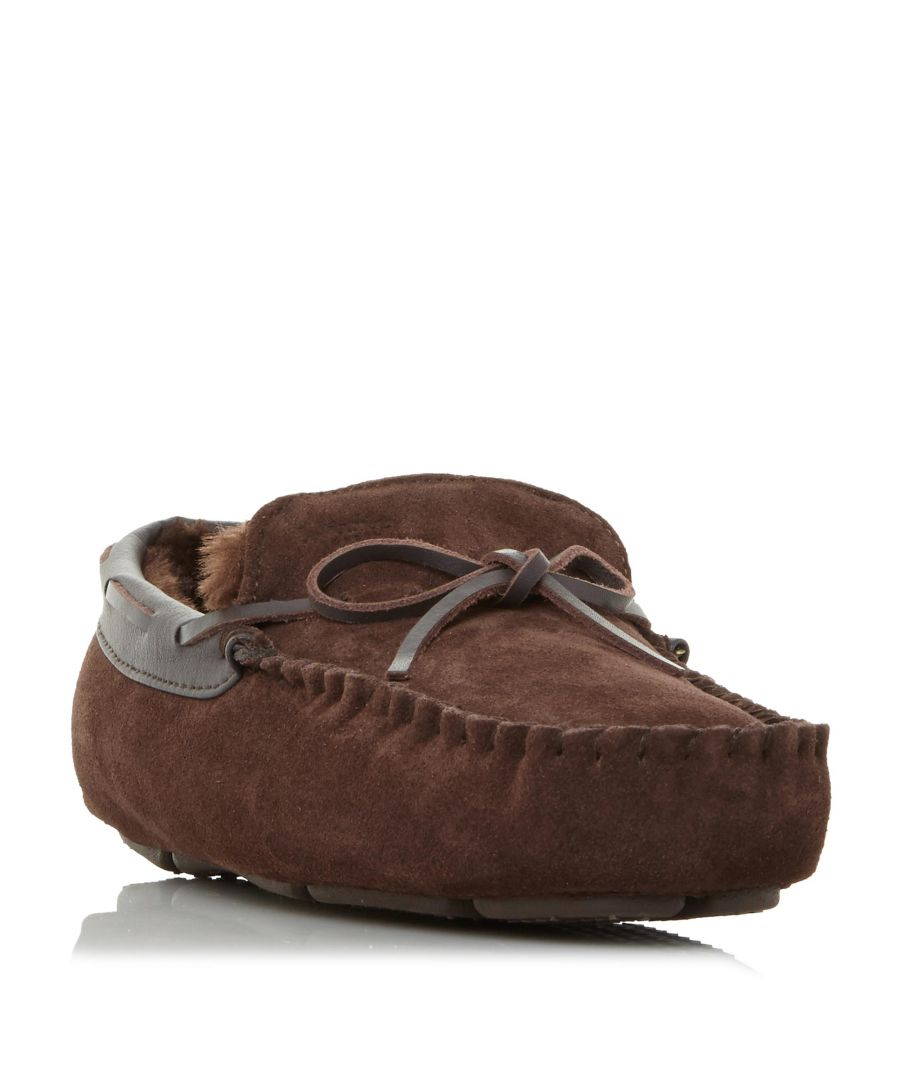 Image for Dune Mens FREEZE Warm Lined Driver Moccasin Slipper